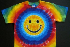 Adult Tie Dye Happy Face