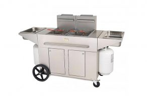 Portable Double Unit Deep Fryer
