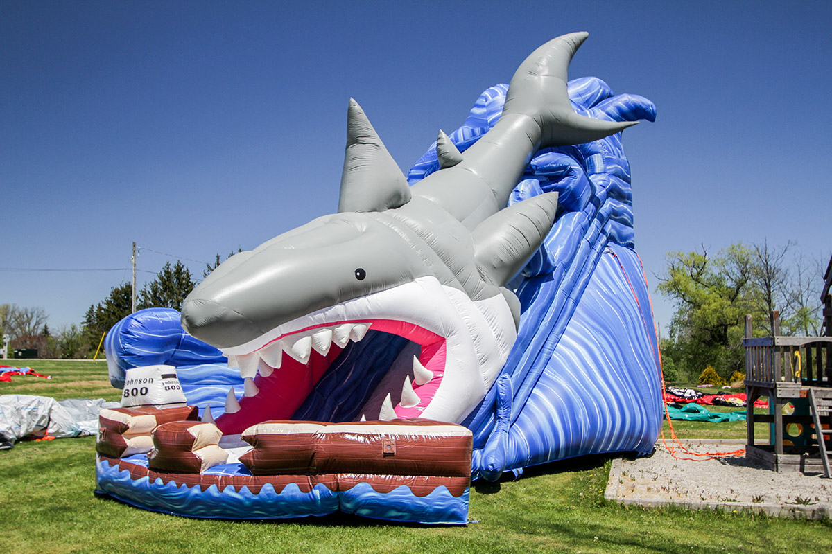 Shark Slide Air Bounce Adventures Amp Party Rentals In